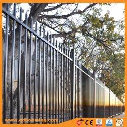 Montaje de plantas ornamentales de hierro forjado negro artístico/Panel de valla de acero