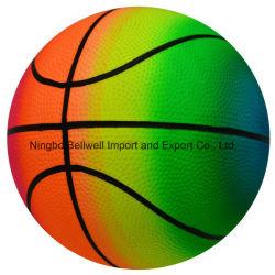 Il PVC di pallacanestro del Rainbow di alta qualità gonfia la sfera del giocattolo