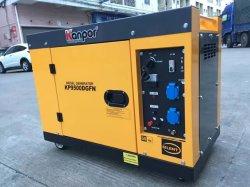 Kp9500dgfn Kanpor 6.8kw 7.5kw 50Hz/8kw 8.5kw 60Hz leise schalldichte Luft-kühler beweglicher Dieselgenerator, leiser Generator