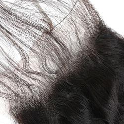 Swiss Lace Monowith Black Curl Hair Austausch