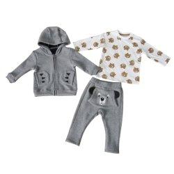Mode tissu polaire Untopped Kid Vêtements garçon Sportswear 3PCS Set