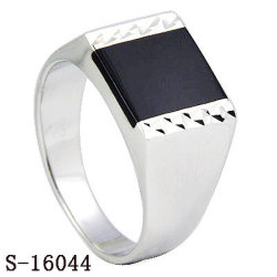 925 серебряных украшений обычная серебристая эмаль мужчин кольца