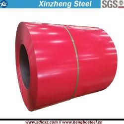 Ral 0.14-0.25mm revestido de color PPGI bobinas de acero para techos hoja
