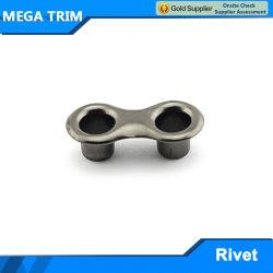 Occhiello su ordinazione del foro del doppio del metallo per il sacchetto
