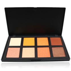 Espelho de cosmética rótulo privado pigmento altamente embalagens de plástico de 8 Cores Paleta Eyeshadow fosco