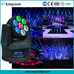 7*15W RGBW Roating interminables conduit de lumière mobile DJ équipement