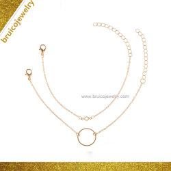 숙녀를 위한 도매 단순한 설계 두 배 사슬 형식 18K 금 팔찌 보석