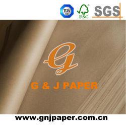 Commerce de gros de pâte de bois imprimé papier d'emballage kraft brun