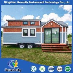 Leve e durável modular de aço de madeira pequeno recipiente prefabricadas Luxury House com Rodas