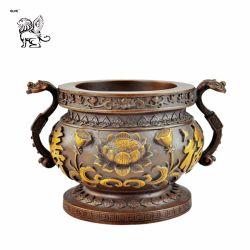 Tamaño personalizado de estilo chino antiguo trípode de bronce fundido incensario Btum-08