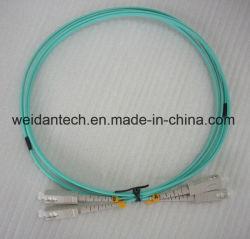 Sc-Sc dúplex multimodo OM3 Cable de conexión de fibra óptica