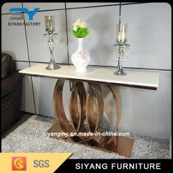 Commerce de gros de meubles modernes en verre Table console Cpnsole Table miroir