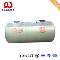 Tank van de Opslag van de Olie van de Diesel FRP de Ondergrondse met Vlakke Maat