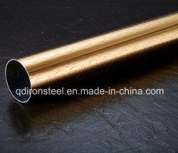 Dourados Gloden tubo de inox para decoração por grau 304, 304L, 201