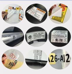 Kundenspezifischer anhaftende Farbe anhaftender transparenter Belüftung-anhaftender Druckpapier-Kennsatz