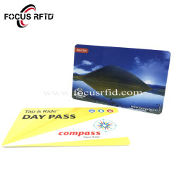 Taille standard de carte à puce RFID sans contact