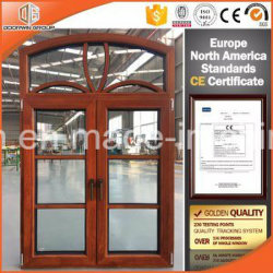 가득 차있는 분할된 Lites를 가진 유럽인과 미국 표준 알루미늄 목제 여닫이 창 Windows