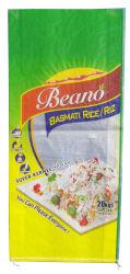 PP tissés sac de riz 25kg, tissé en polypropylène avec Sack BOPP Film plastification