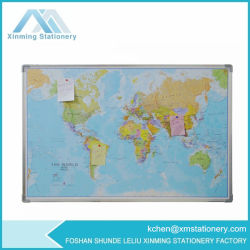 Board 높은 쪽으로 직물 World Map Board Fabric Push Pin Board Pin