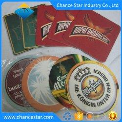 Papel absorvente de impressão personalizados copos de café, cerveja Coasters, drinque coasters