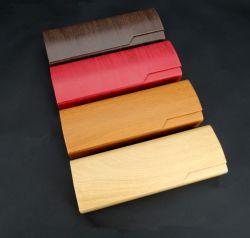 Commerce de gros et de haute qualité Personnalisée Handmade Rectangle bois créatif et à la mode lunettes cassées Cas d'impression