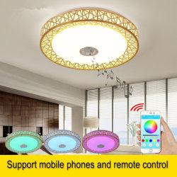 Dimmbarer Bluetooth-Lautsprecher Musik Audio RGB Moderne Wohnbeleuchtung LED Deckenleuchten (WH-MA-41)