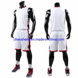 Llanura de último diseño camisetas de Baloncesto Baloncesto Reversible de malla en blanco conjunto uniforme sublima el desgaste de cortometrajes para el equipo