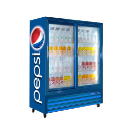 Equipos de refrigeración comercial Pepsio Refrigerador de la pantalla de la puerta de vidrio
