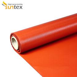 Fibra de vidrio de alta resistencia contra el fuego de la producción de fibra de vidrio de aislamiento térmico de protección de soldadura de tejido de silicona