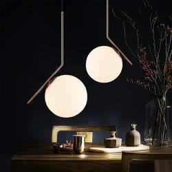 Licht van de Tegenhanger van de Bal van het Glas van het Ontwerp van de Kunst van de Slaapkamer van het restaurant het Witte Noordse