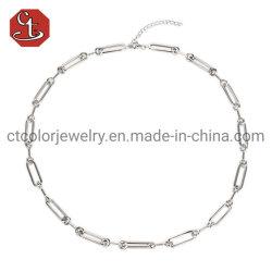Acessórios de moda 925 Sterling Silver Link Chain Chicklace Hip Hop Moda Jóias
