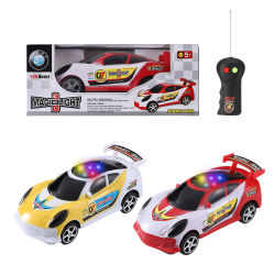 Kids Electric Toy radio telecomando RC Cars 2 canali con luce 3D 1: 26