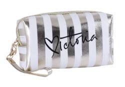 2020 Custom рекламных подарков золотой печатаемого фрагмента PU Womentravel мешок косметический мешок женщина дамской сумочке