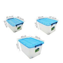 車輪の卸しで Eco 友好的な家の使用貯蔵箱及び Bins ハンドル付きプラスチック製保管容器