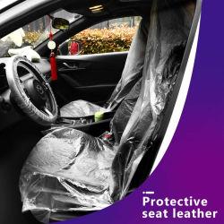 Водонепроницаемый одноразовой пластиковой очистить машину чехлы сиденья