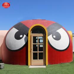 중국 DIY 볼 지오 이글루 지원 돔 하우스 모듈식 EPS 돔 프렌탭 그래핀 프리패브