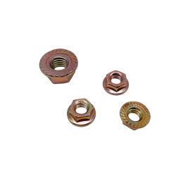 十六進フランジのくだらない十六進ナットの六角形ナットの車輪のナットDIN6923 DIN74361亜鉛クロム