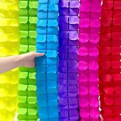 10 ШТ. цветной четырехлистовой клевер Бумага Гарланд вечерние Стреamers ткани висячие Гарланд для вечеринки, классная декорация