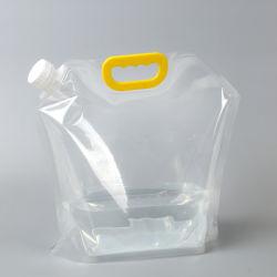 透過大きい容量は立て、プラスチック屋外旅行ウォーターバッグを運ぶ