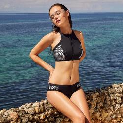 여성용 섹시한 블랙 스포츠 서프 브라 수영복 수영복 비치웨어 비키니