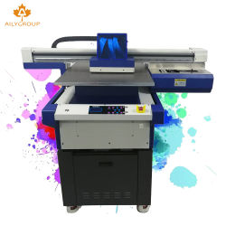 새로운 Epson Dx11 헤드를 가진 향상 큰 체재 6090 UV 평상형 트레일러 인쇄 기계