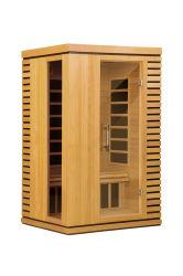 Sauna di Infrared lontano con il riscaldatore unito fatto di legno solido, stanza asciutta di sauna del bagno come macchina calda di terapia