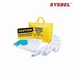 Flexble, kit portatili di controllo di caduta delle sostanze assorbenti di caduta di olio (SKIT001W)