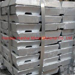 Prix le plus bas de haute qualité des lingots de zinc haute pureté de 99,99 % de l'usine