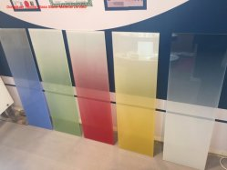 Usine de verre d'impression en verre coloré avec la norme EN12150/SGCC