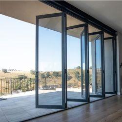 외부 기상 검증 북미 표준 Nfrc 알루미늄 유리 접이식 프로젝트를 위한 Doors Bifold Doors
