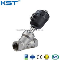 Actuador neumático de plástico de Acero Inoxidable Sanitry Válvula de asiento de ángulo o ángulo válvula de pistón/válvula de agua de la válvula de control de flujo/pinza/hilo/brida/tornillo