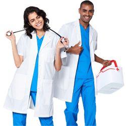 성인 맞춤형 병원 의료 Labcoat 도매 화이트 의사 유니폼