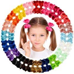 """40의 색깔 가게 그로그레인 리본 Pinwheel 3 """" 머리는 머리를 숙인다 악어 클립 (JD200521001)를"""