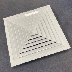 O condicionador de ar de exaustão de ar falso Difusor Quadrado Respiro de Ar de Alimentação, 4 Caminho Difusor Direcional